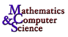 [Department of Mathematics and Computer Science]